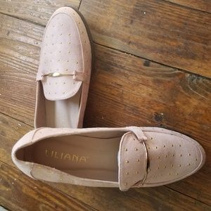 Liliana Pink Suede Loafers